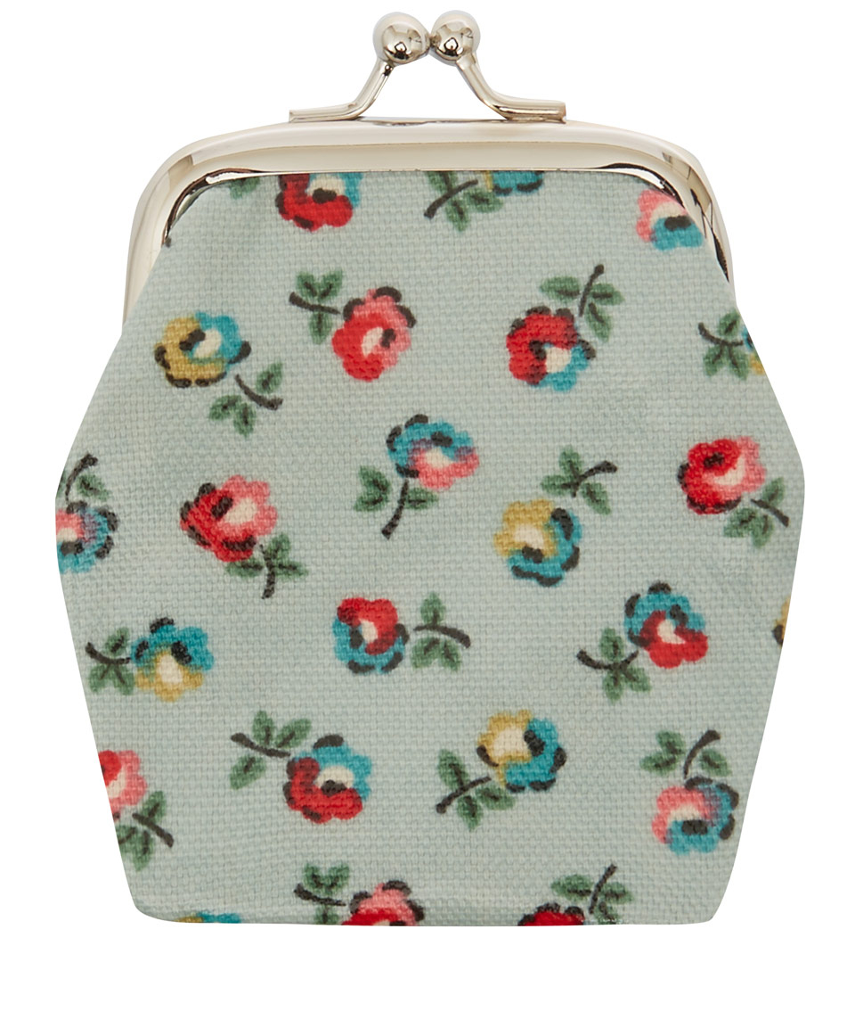 Cath Kidston Turquoise Print Mini Clasp Purse In Blue Lyst