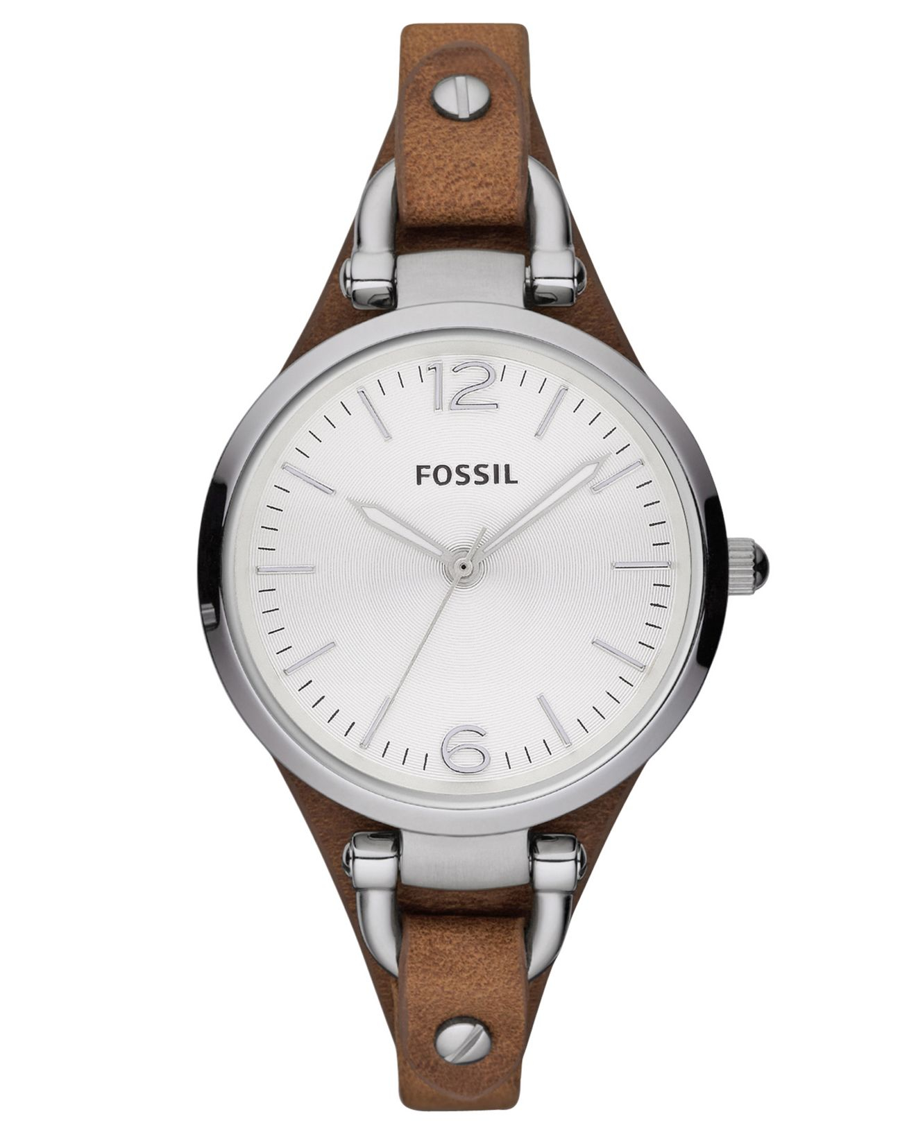 fossil s brown leather 32mm