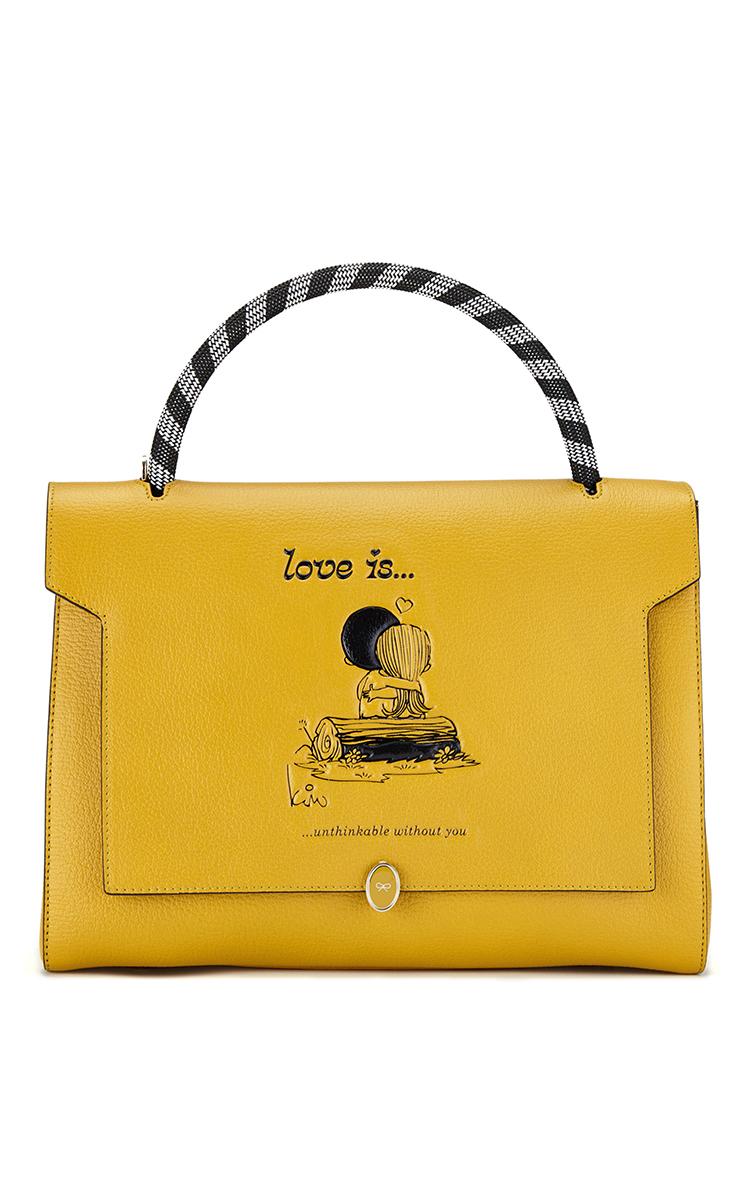 Anya Hindmarch Love print satchel bag Extremely Online vlsIz