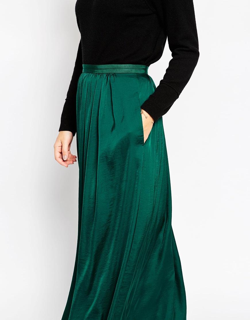 Green Maxi Skirt - Skirts