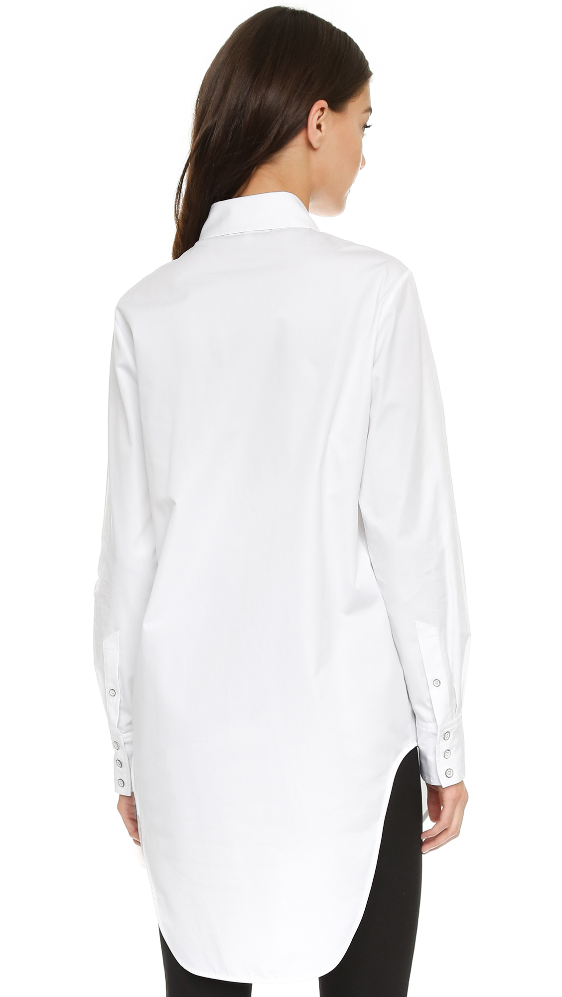 Lyst rag bone nightingale shirt in white for Rag bone shirt