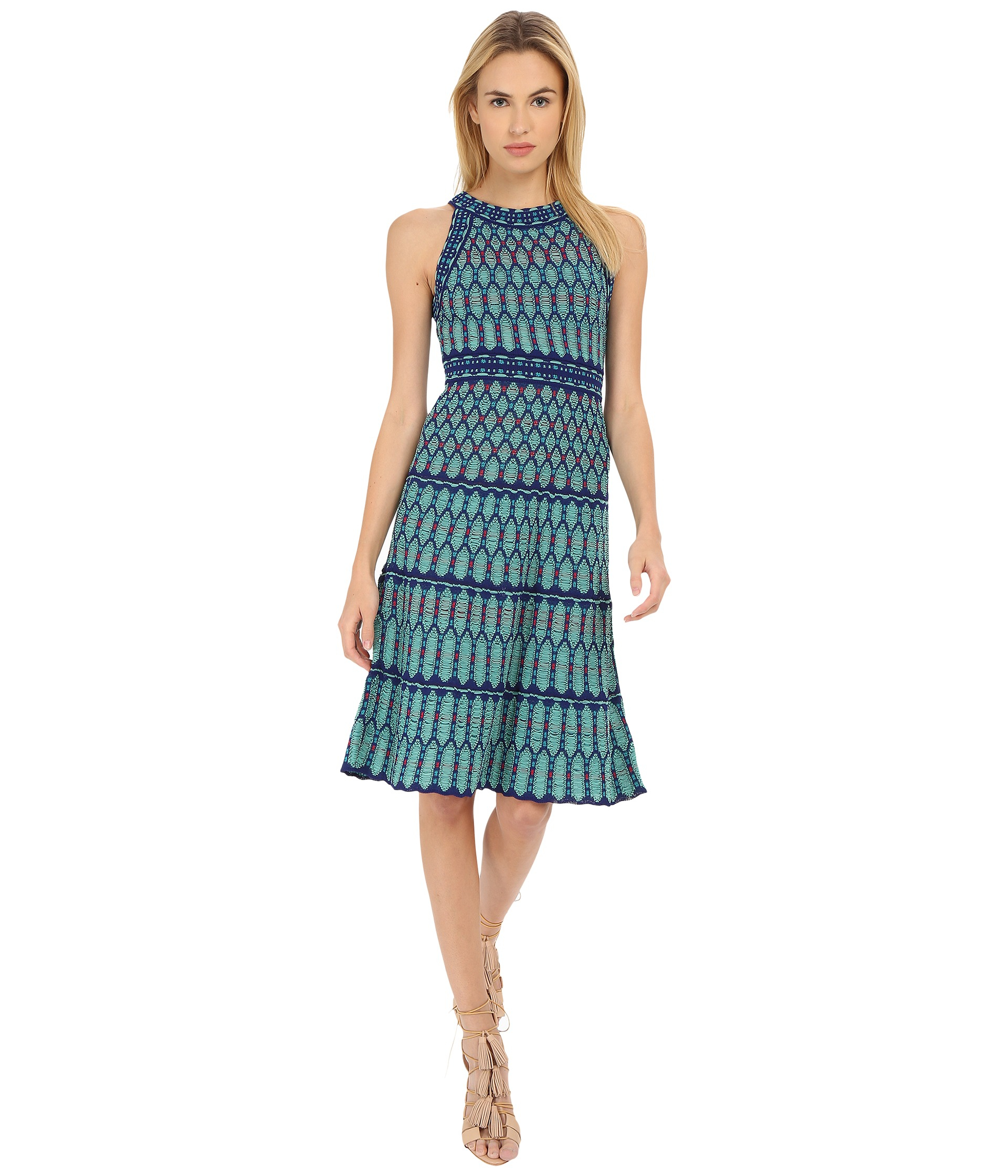 Lyst M Missoni Crochet Dress In Green