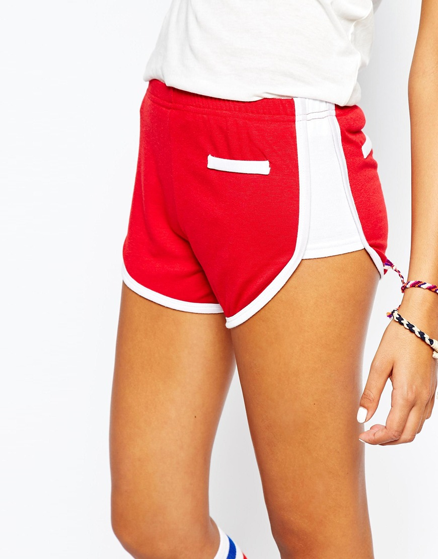 Camp collection Retro Roller Girl Shorts in Red | Lyst