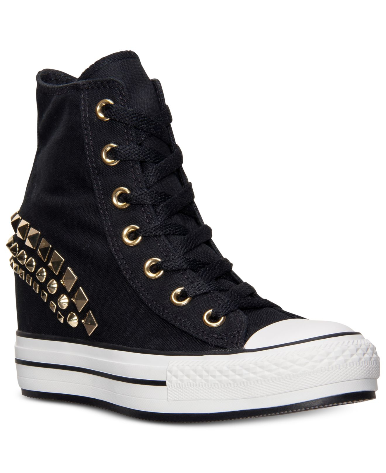 e7707557ebee Converse Chuck Taylor All Star Hi Platform Sneakers Shoes Black ...