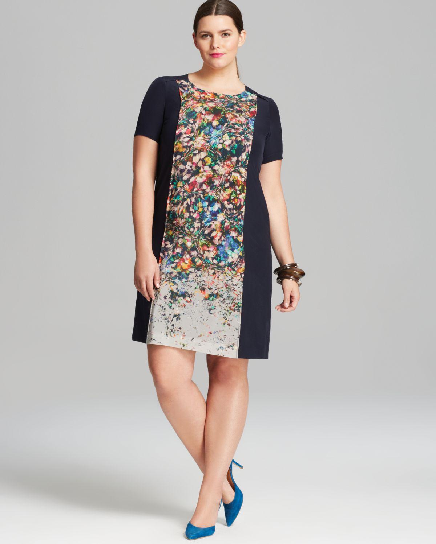 d92c8a747c Lyst - Marina Rinaldi Plus Domenica Dress in Gray
