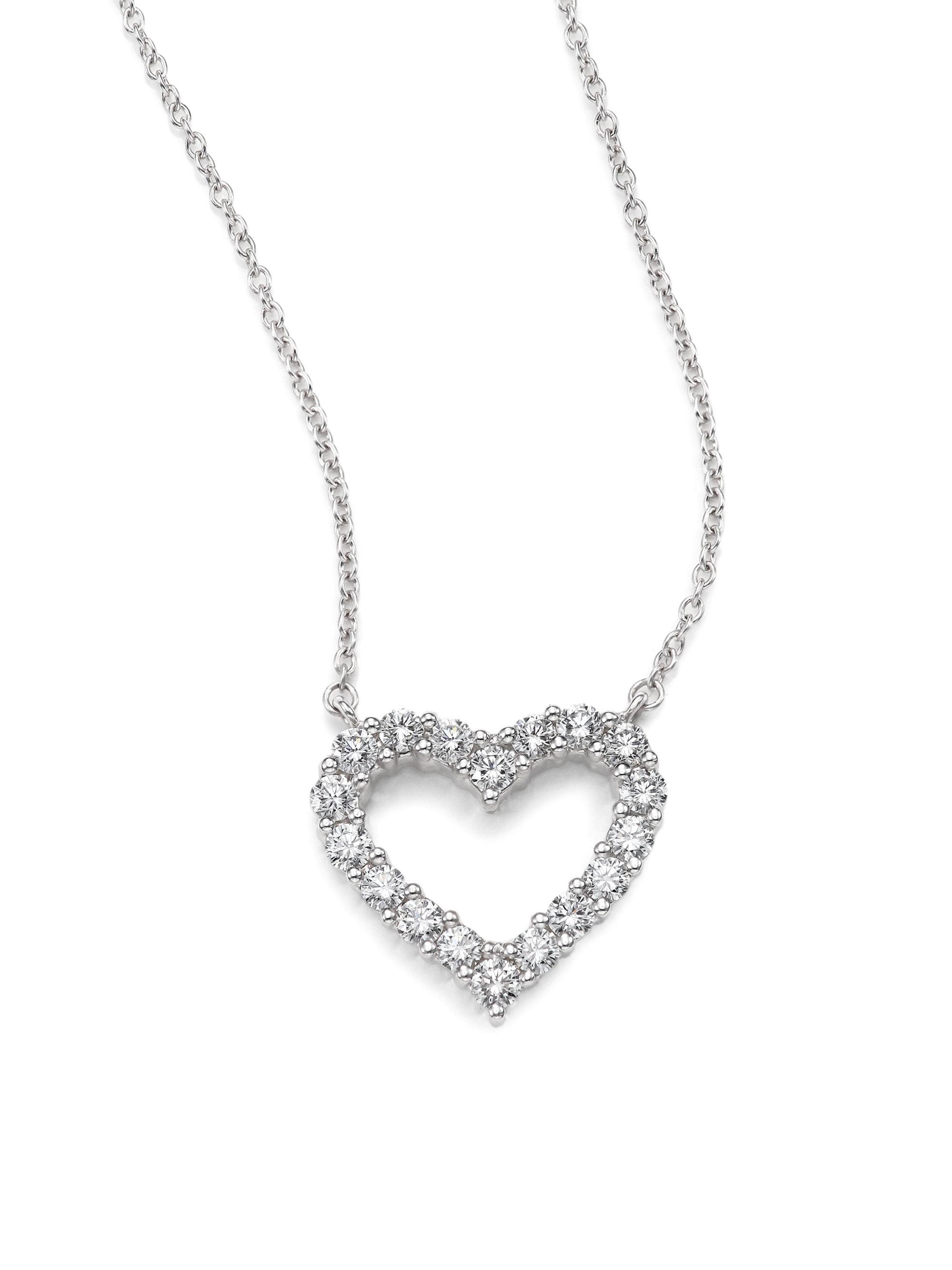 Kwiat Diamond & 18k White Gold Heart Pendant Necklace in White