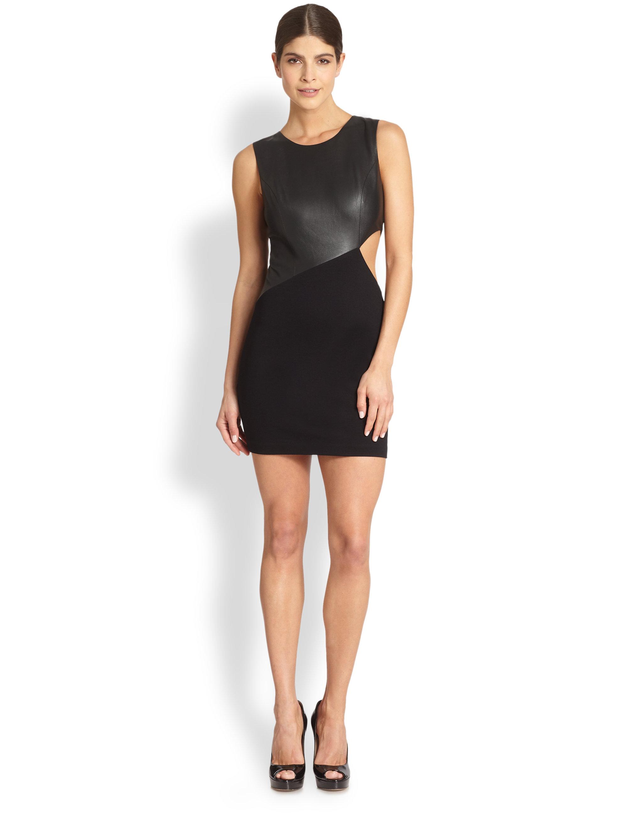 Bcbgmaxazria Kay Cutout Cocktail Mini Dress in Black | Lyst