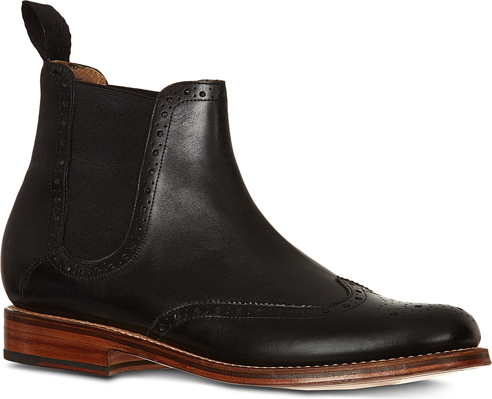 grenson jacob chelsea boots in black for men lyst. Black Bedroom Furniture Sets. Home Design Ideas