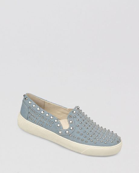 Sam Edelman Slip On Sneakers Braxton Studded in Blue - Lyst