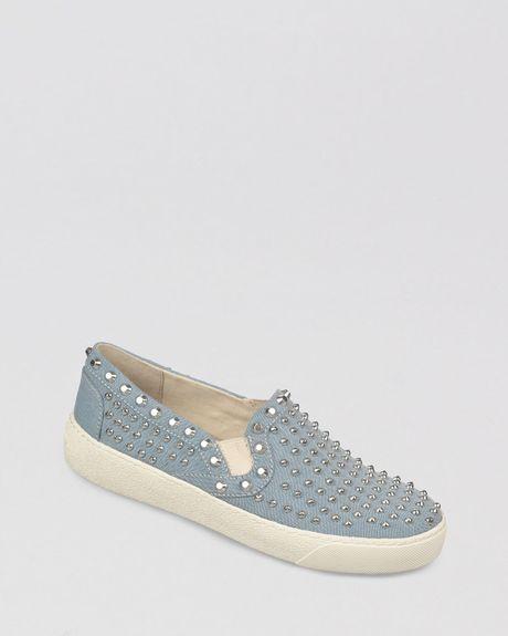 Sam Edelman Slip On Sneakers - Braxton Studded in Blue
