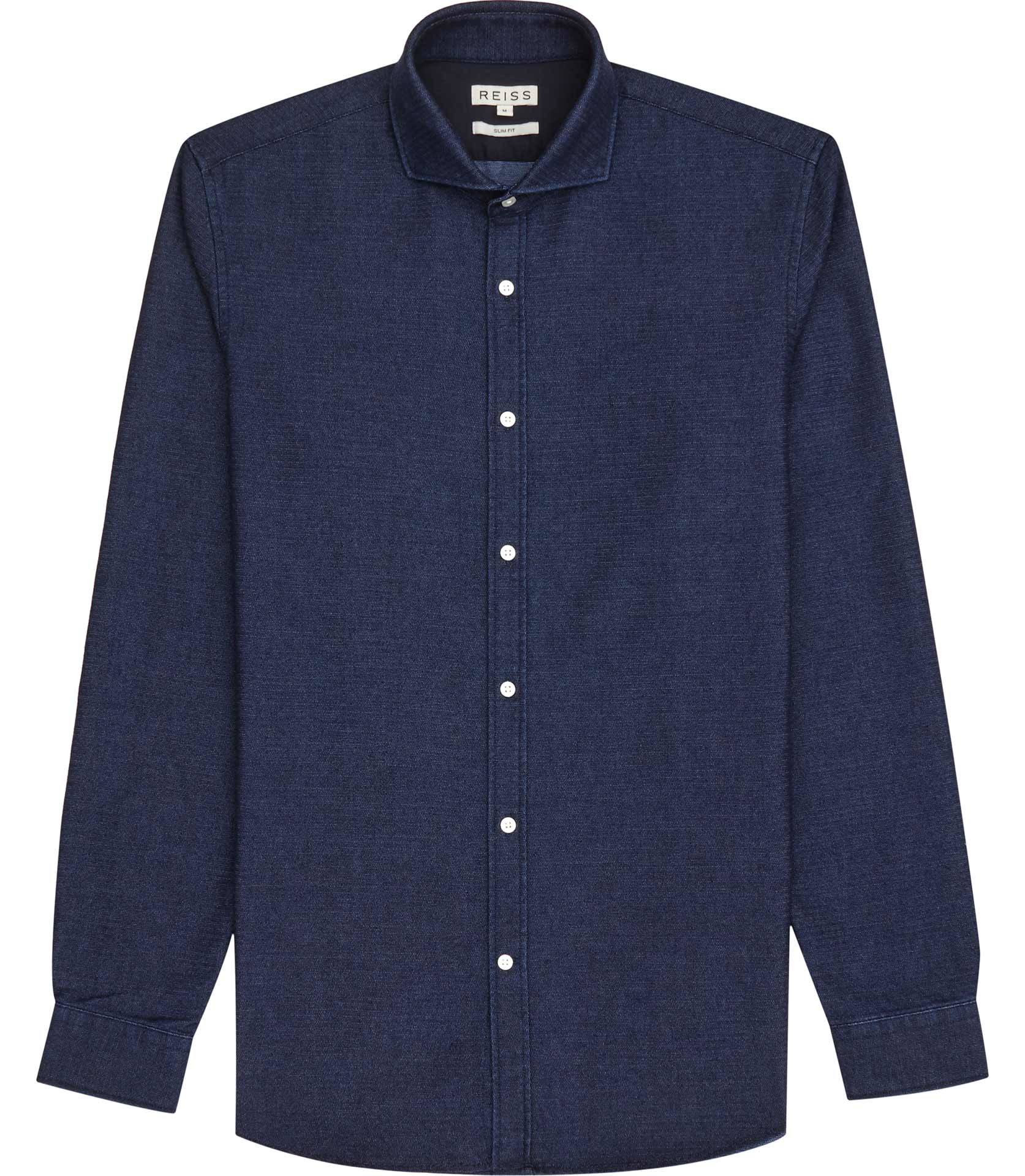 Reiss Fabrizio Cutaway Collar Shirt In Blue For Men Lyst