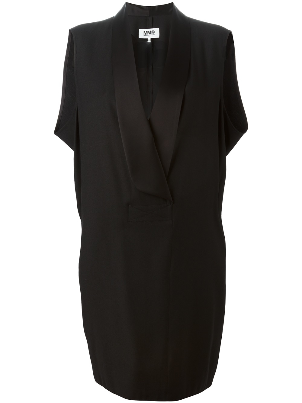 Womens Twill Tuxedo Shift Dress Maison Martin Margiela ausQ7Elx