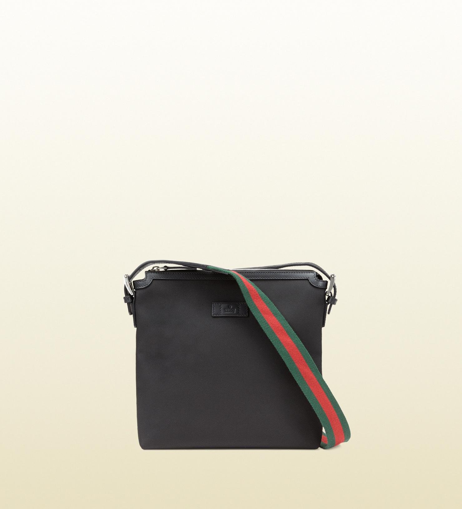 e5375c2c5 Gucci Techno Canvas Messenger Bag in Black for Men - Lyst