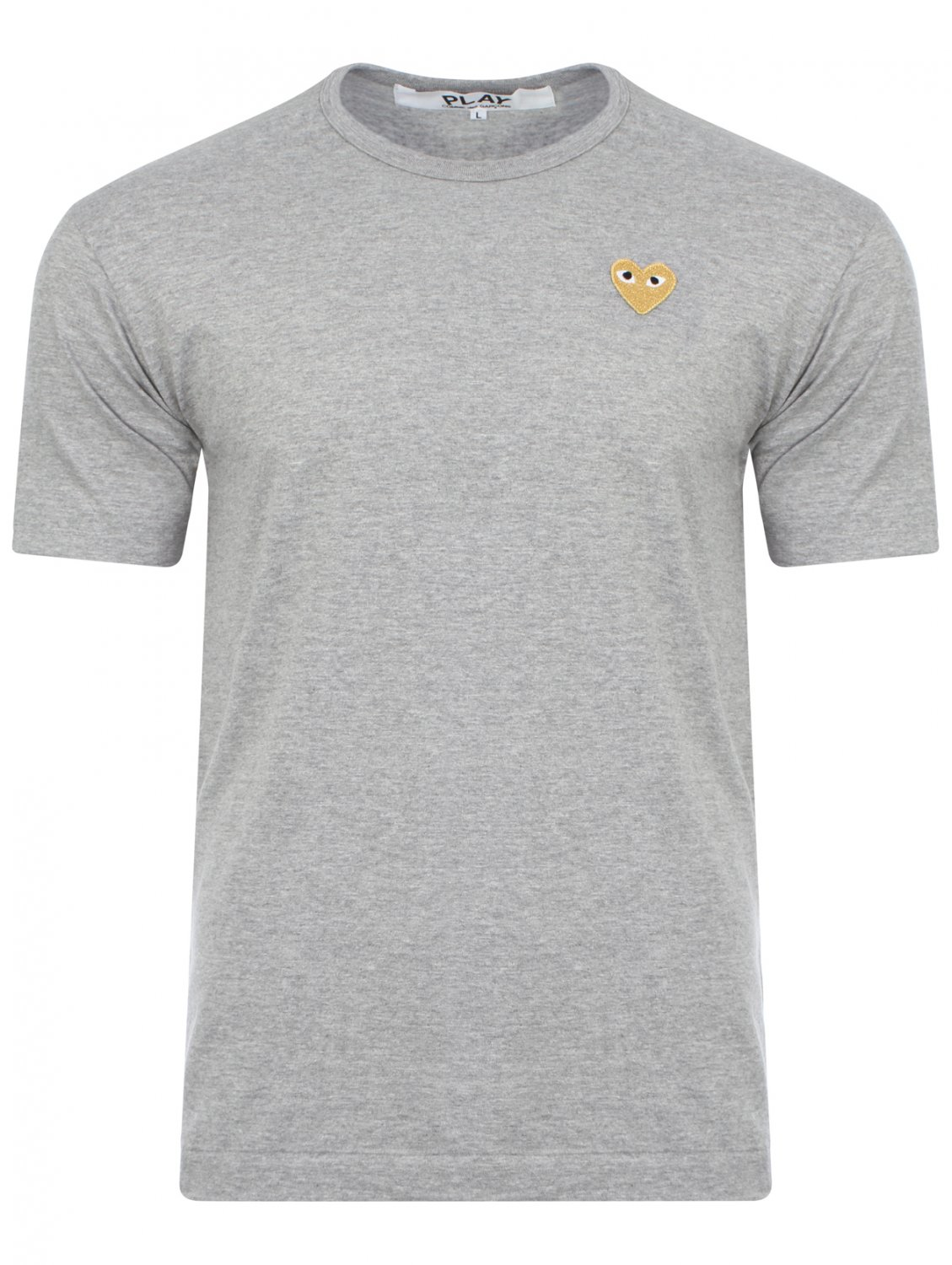 Comme Des Gar Ons Play Men 39 S Gold Heart T Shirt Grey In
