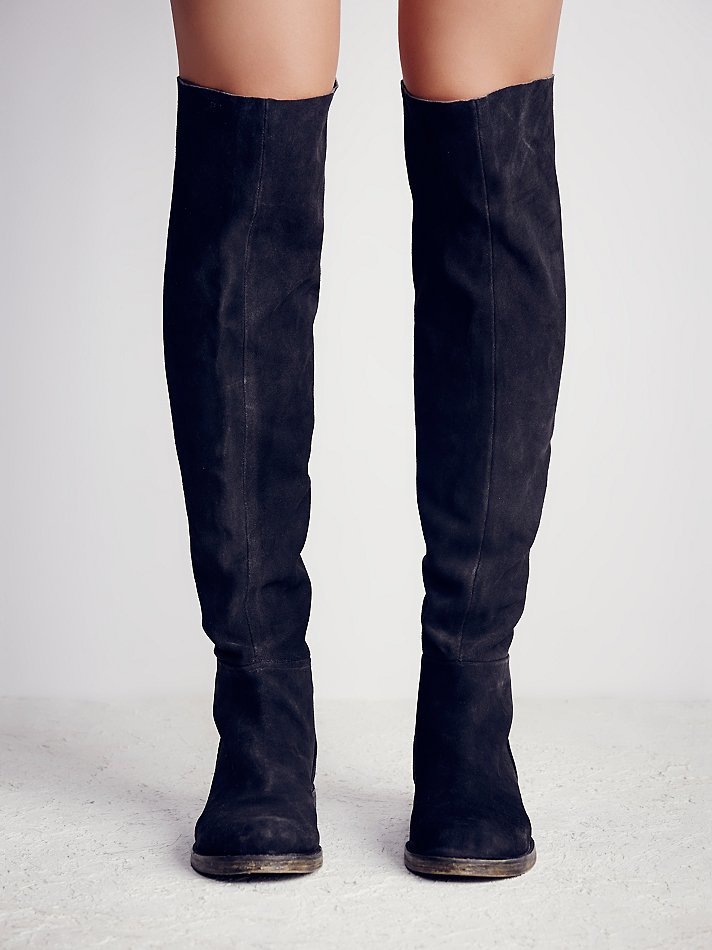 3b271de517a Lyst - Free People Fp Collection Womens Cumbria Otk Boot in Black