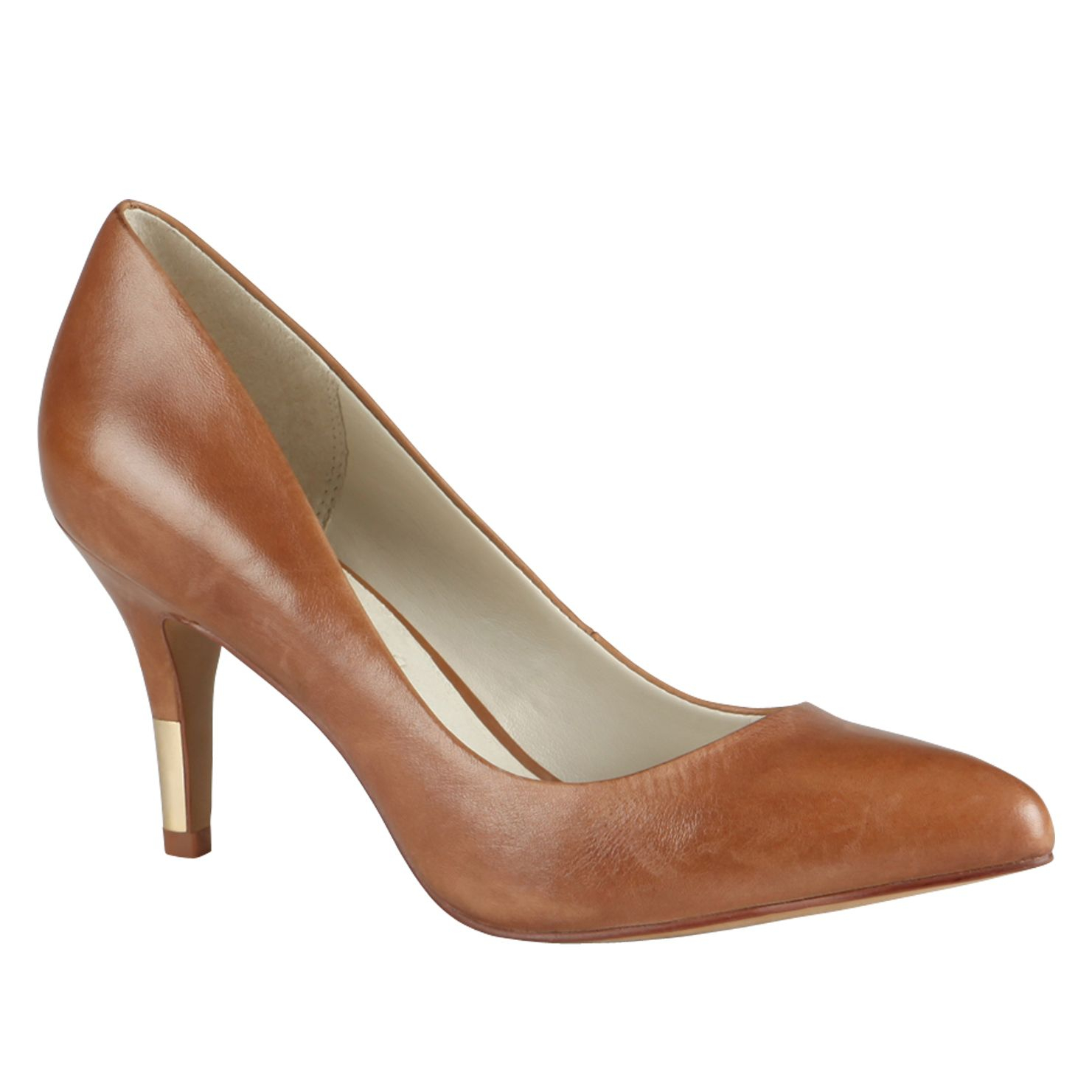 Brown Pointed Court Shoes