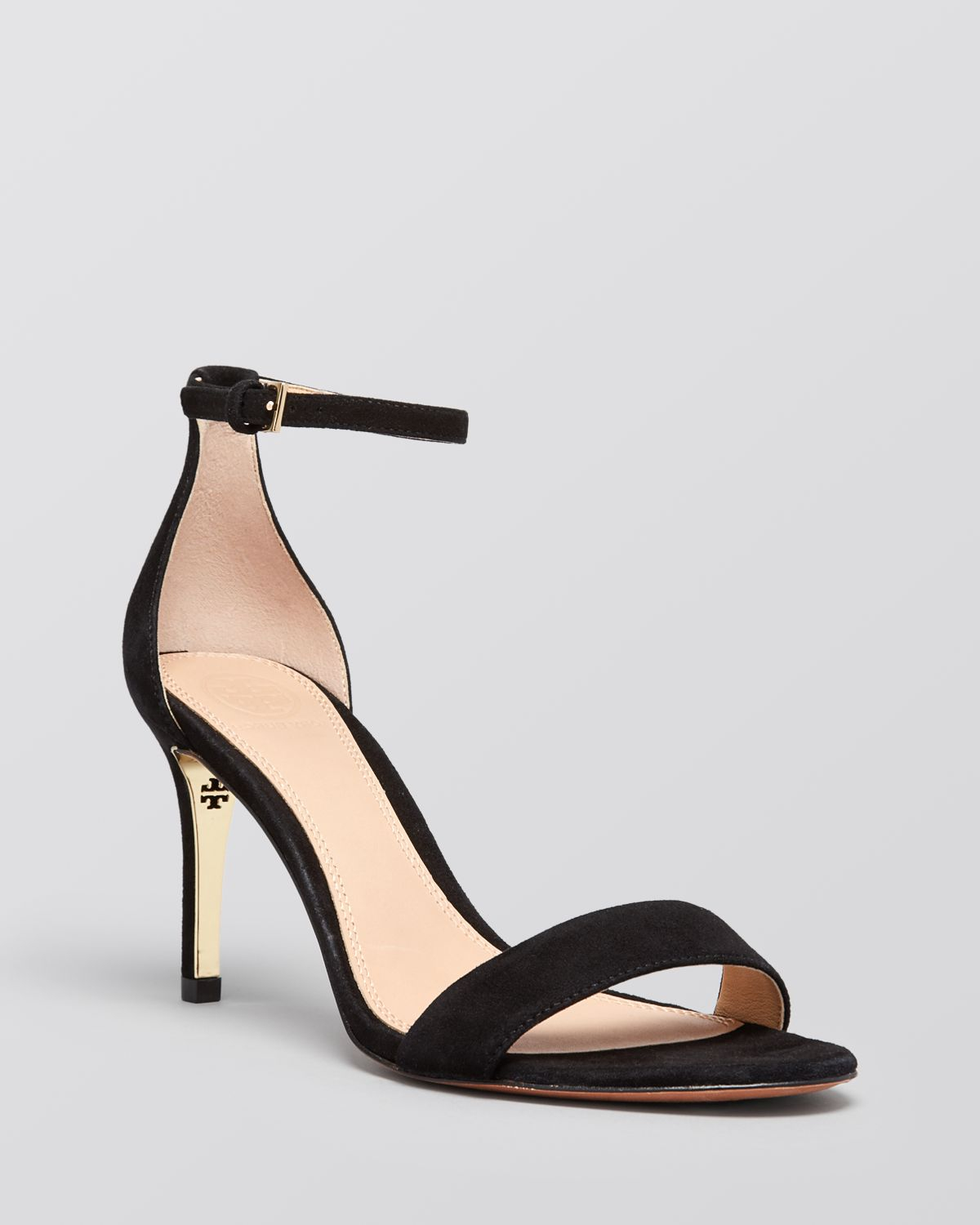Lyst - Tory burch Ankle Strap Sandals - Keri High Heel in Black