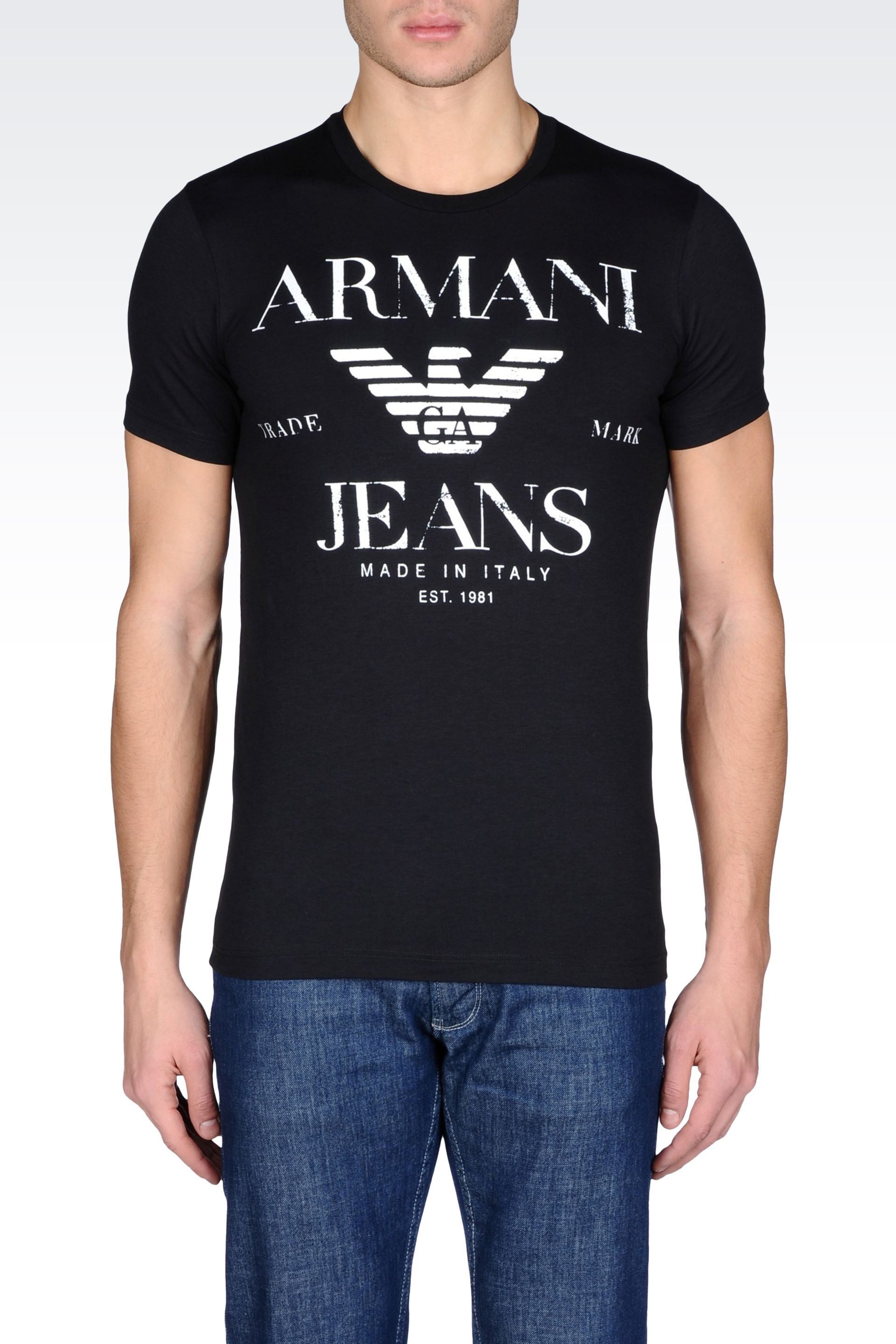 Black t shirt armani - Gallery