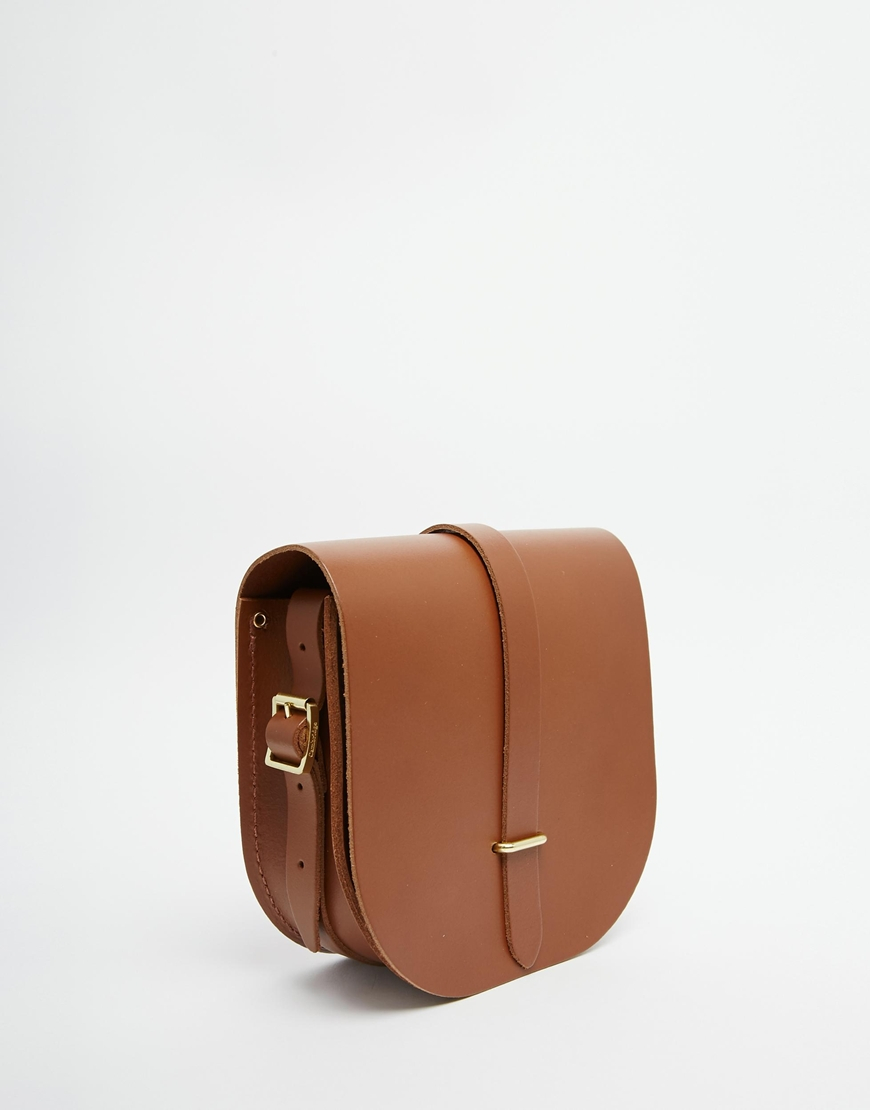 Cambridge satchel company The Leather Saddle Bag In Vintage Tan in ...