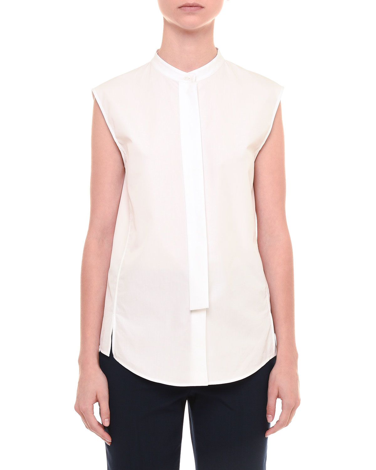 Jil Sander Sleeveless Button-Up Top Find Great Cheap Online Discounts Online cIsKlSD75