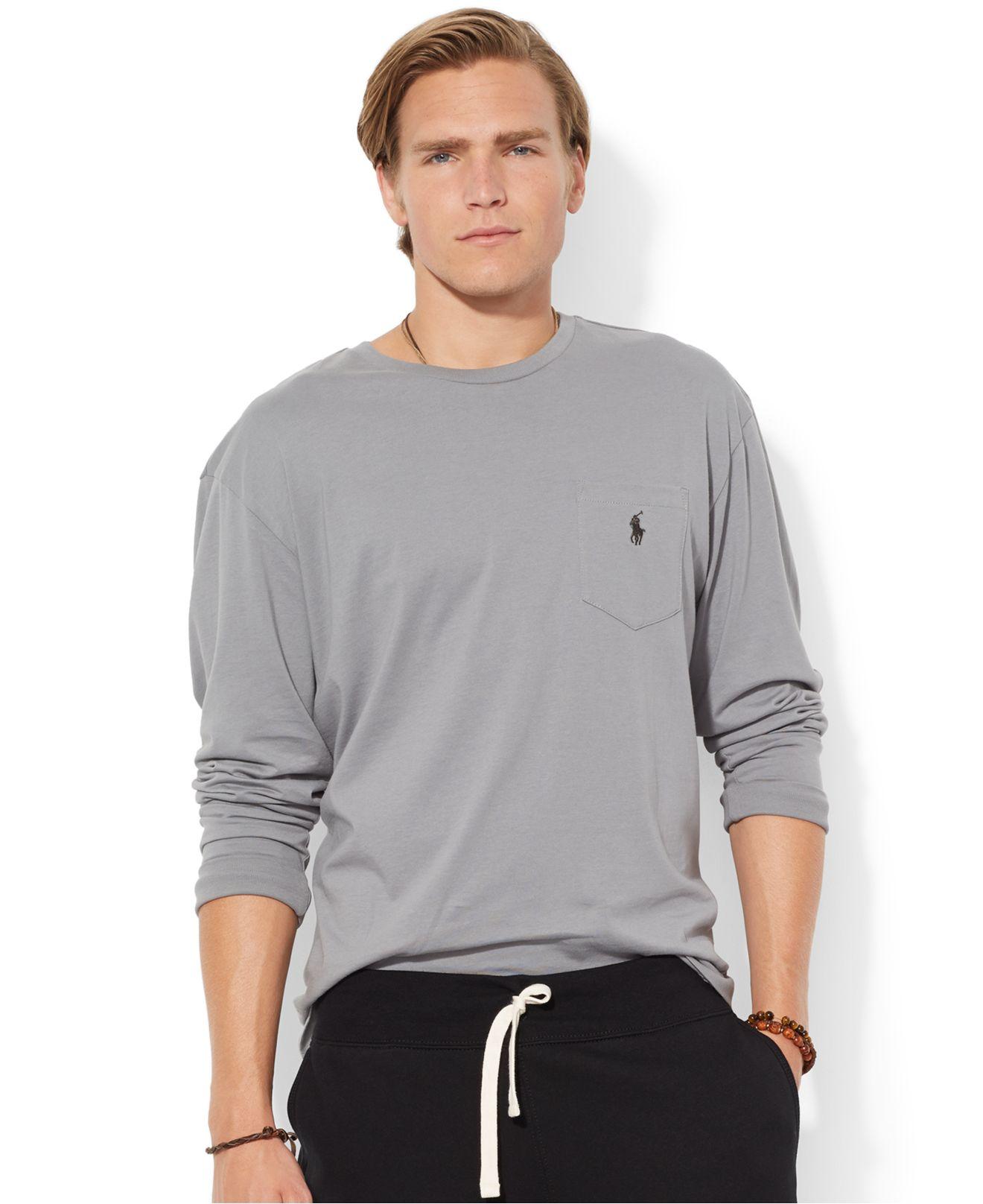 polo ralph lauren classic fit long sleeved jersey pocket. Black Bedroom Furniture Sets. Home Design Ideas
