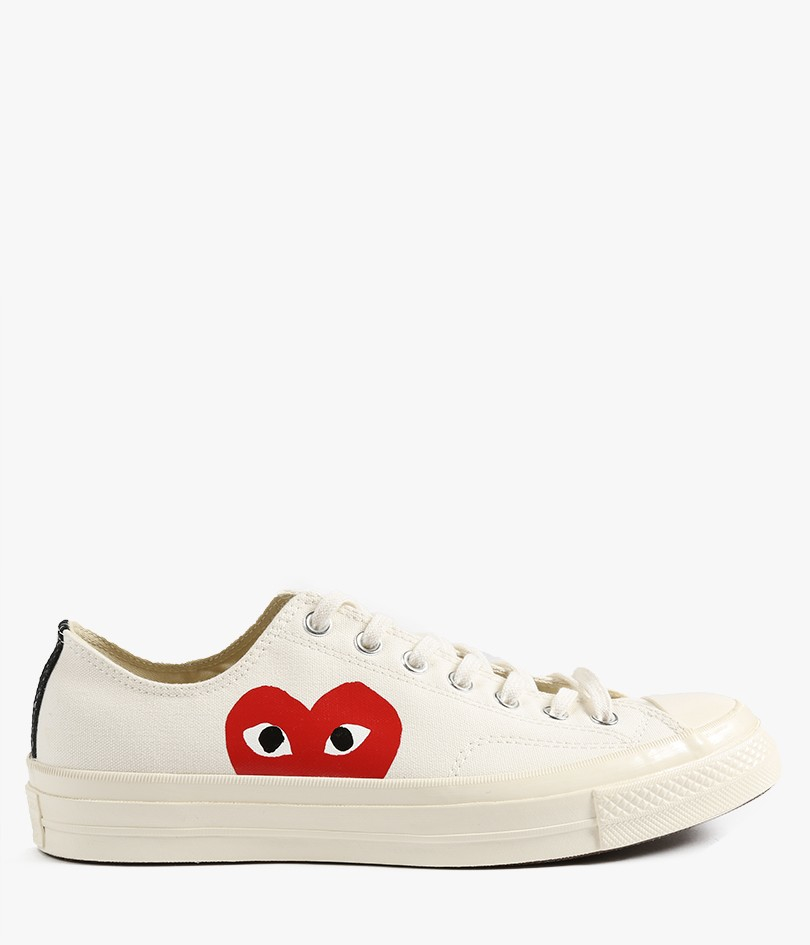 comme des gar ons play chuck taylor all star canvas low top sneakers in white lyst. Black Bedroom Furniture Sets. Home Design Ideas