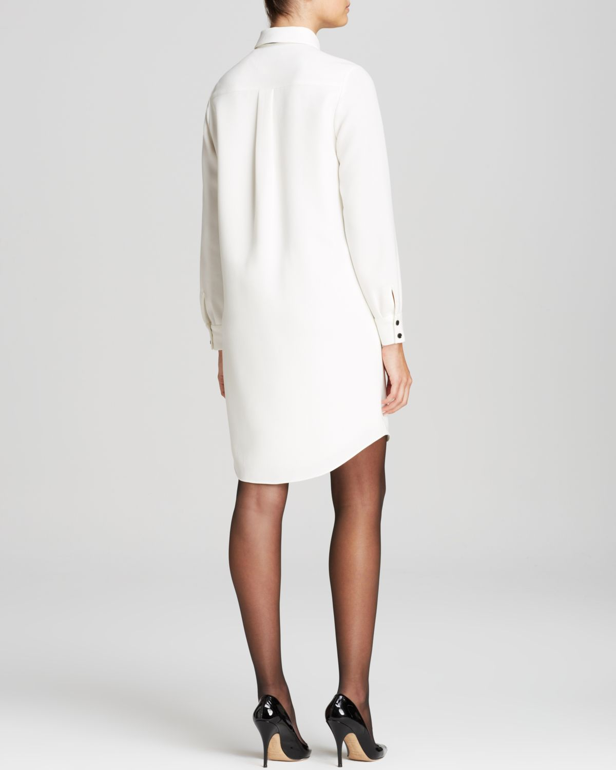 1aa801c740b Kate Spade Griffin Shirt Dress in Natural - Lyst