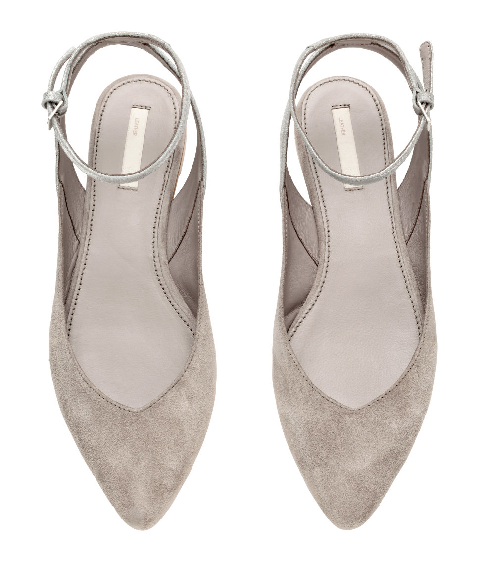 Lyst - H M Suede Slingbacks in Gray