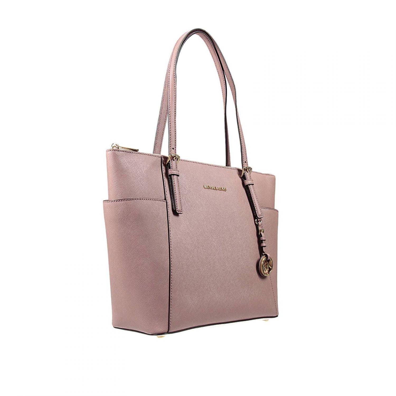 lyst michael michael kors handbag in pink