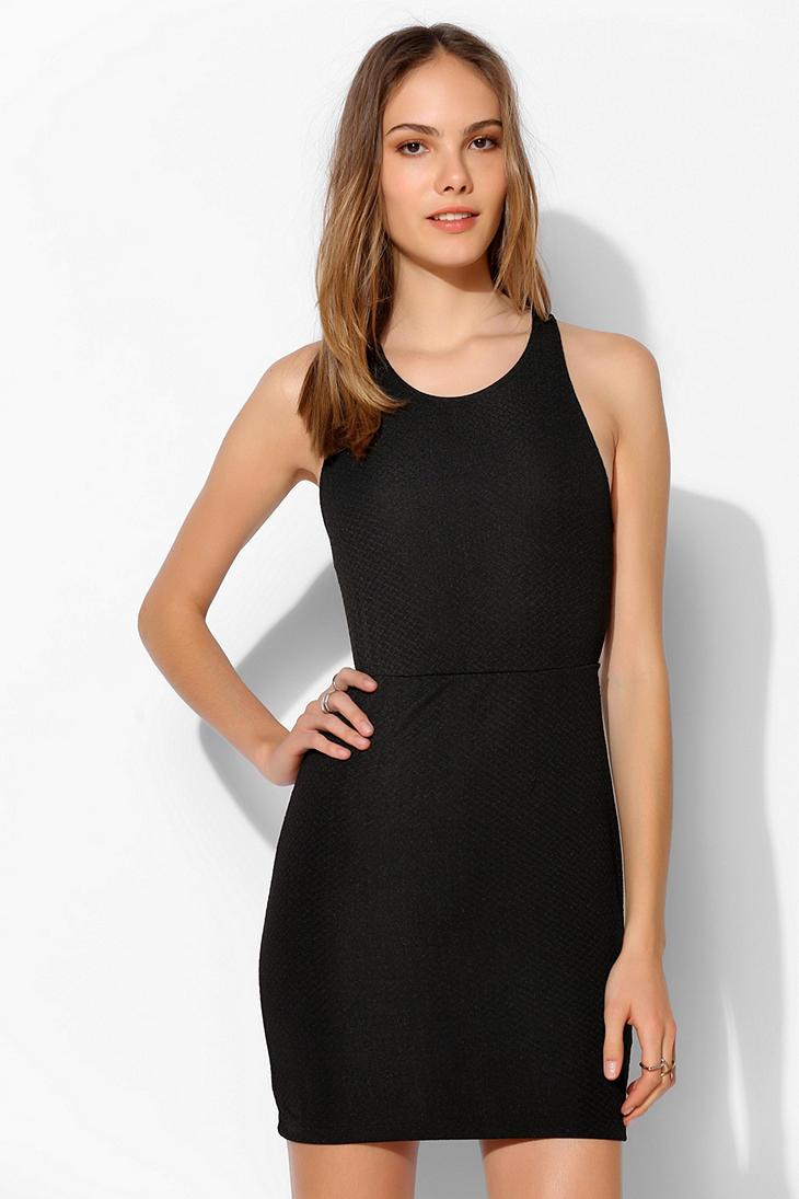 Sparkle Amp Fade Strappy Back Bodycon Mini Dress In Black Lyst