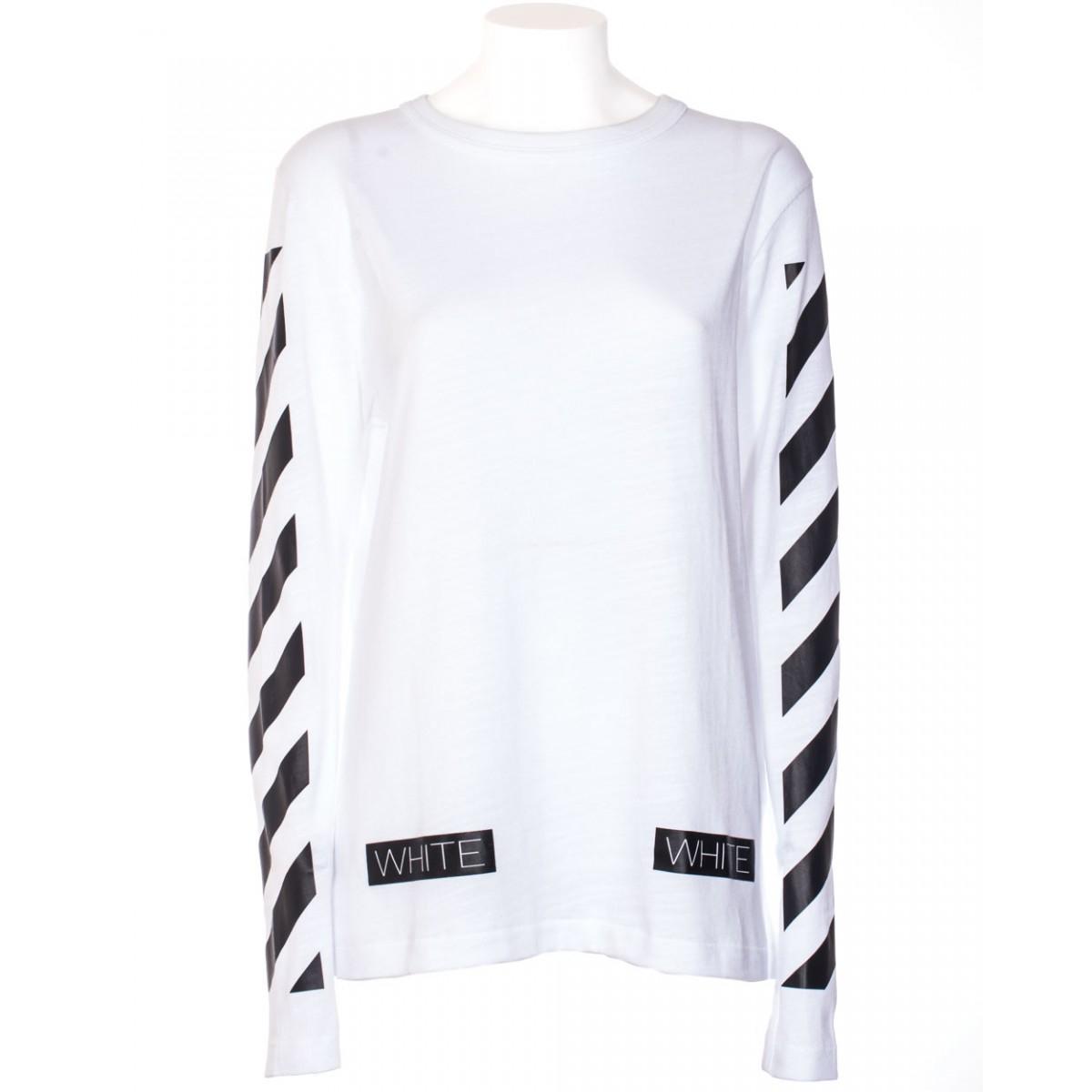 Off White C O Virgil Abloh T Shirt Long Sleeve Carry