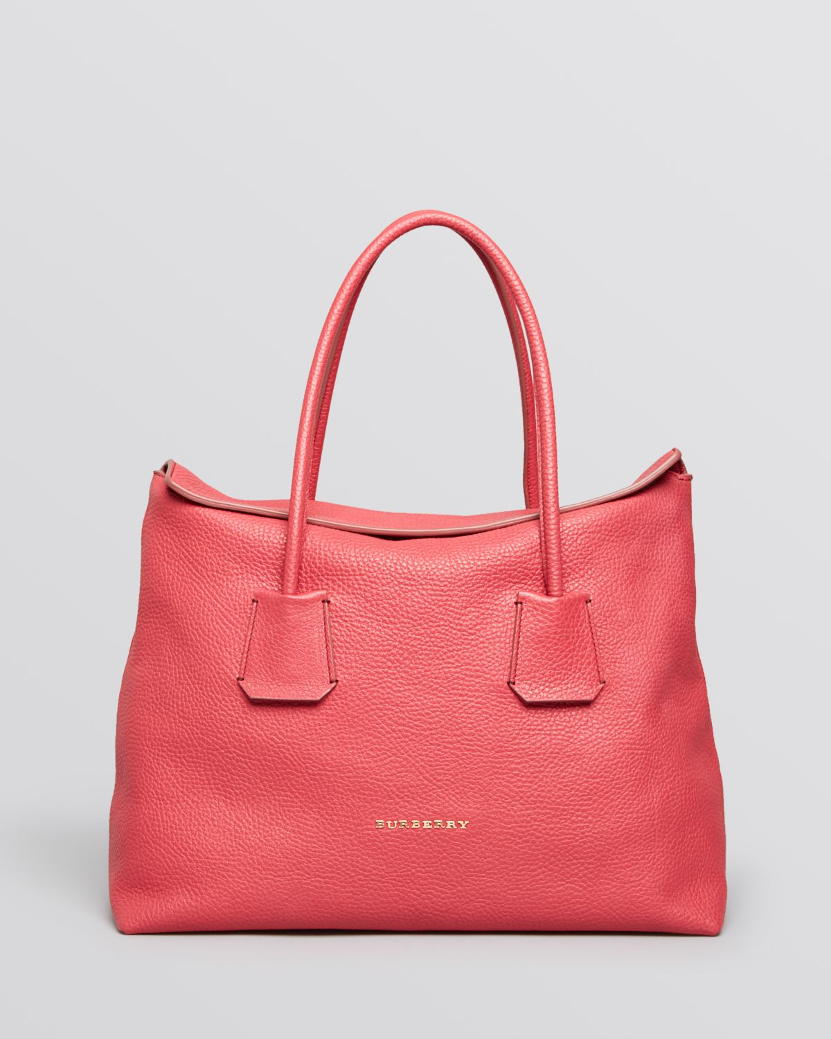 Lyst - Burberry Tote London Grainy Leather Medium Baynard in Pink 0addd1e24b0bb