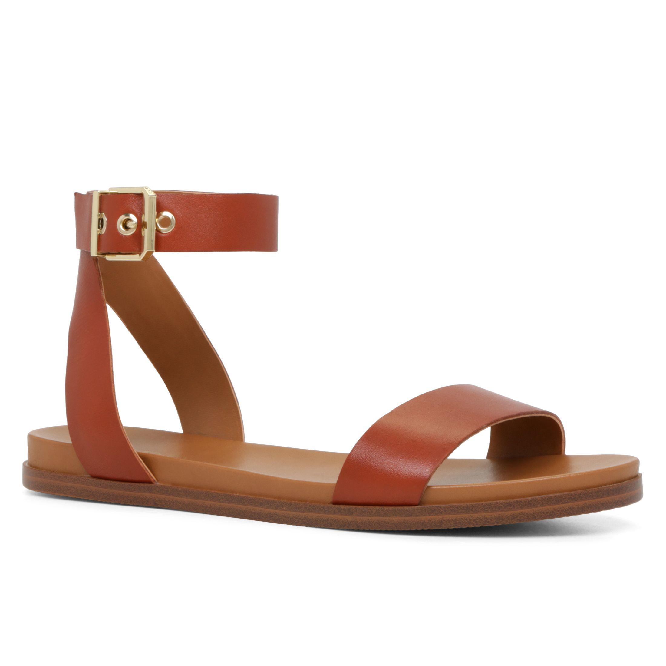 Aldo Erina Ankle Strap Sandals In Brown Lyst