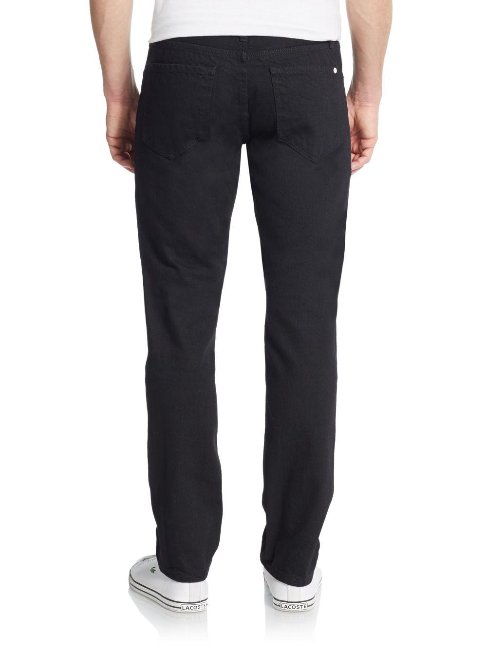 Baldwin denim Henley Black Slim-leg Jeans in Black for Men | Lyst