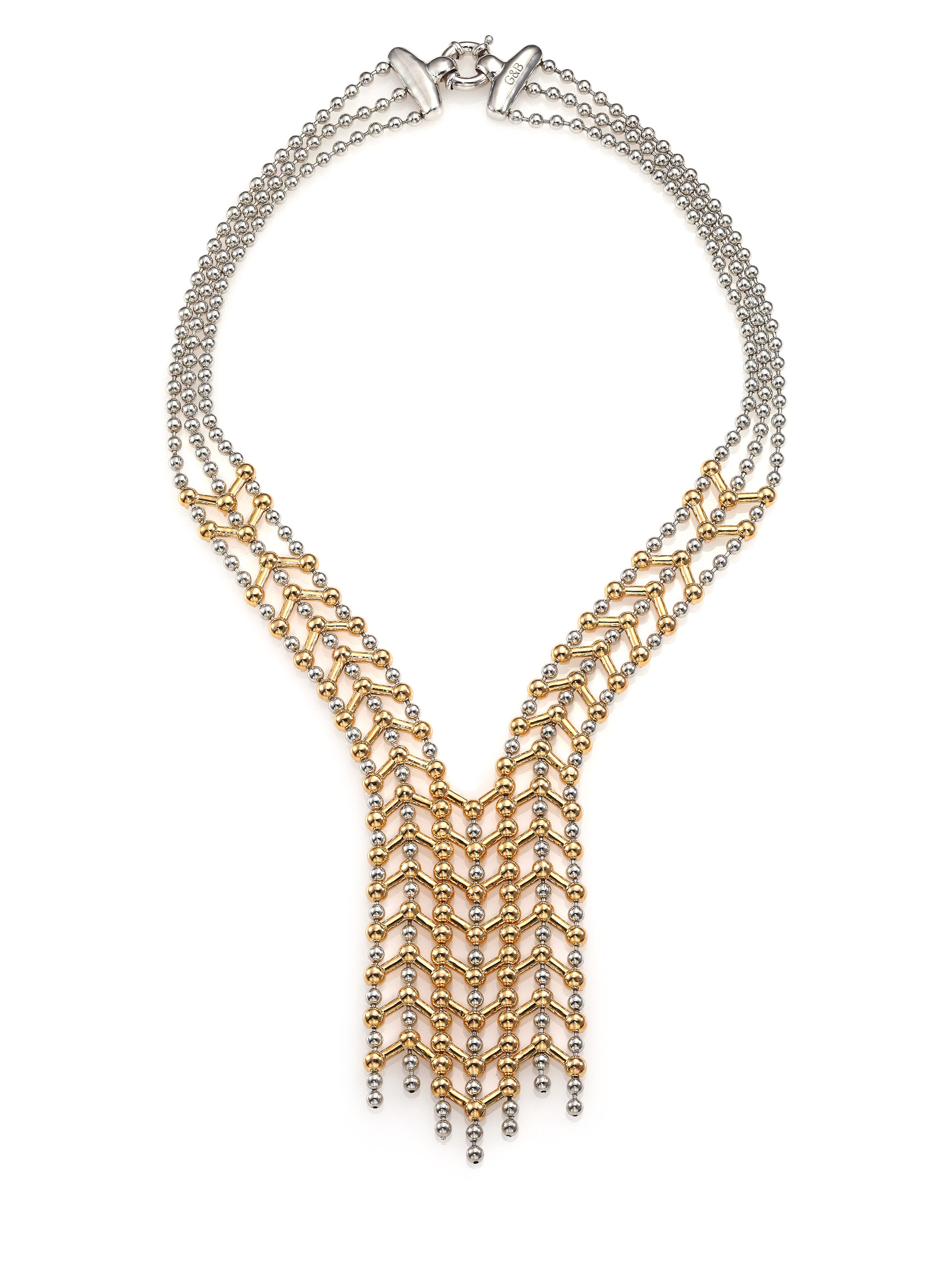 Giles Amp Brother Apache Cascade Bib Necklace In Metallic Lyst