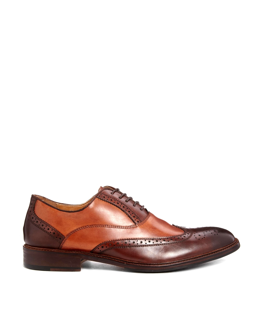 aldo coolman brogue shoes in brown for men lyst