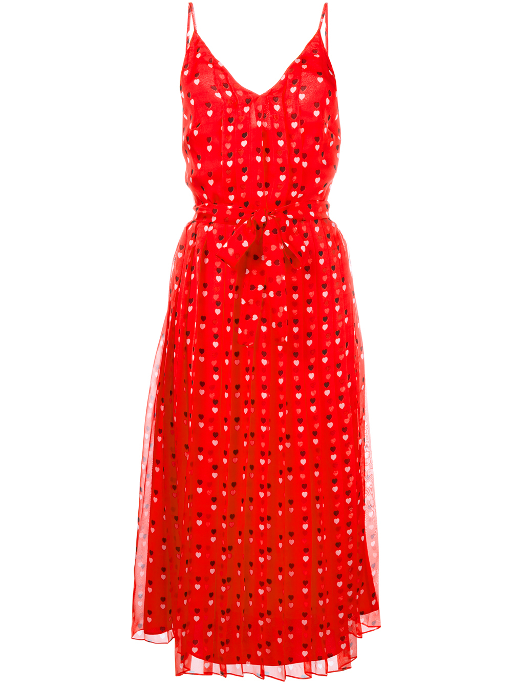Lyst Christopher Kane Heart Print Chiffon Dress In Red