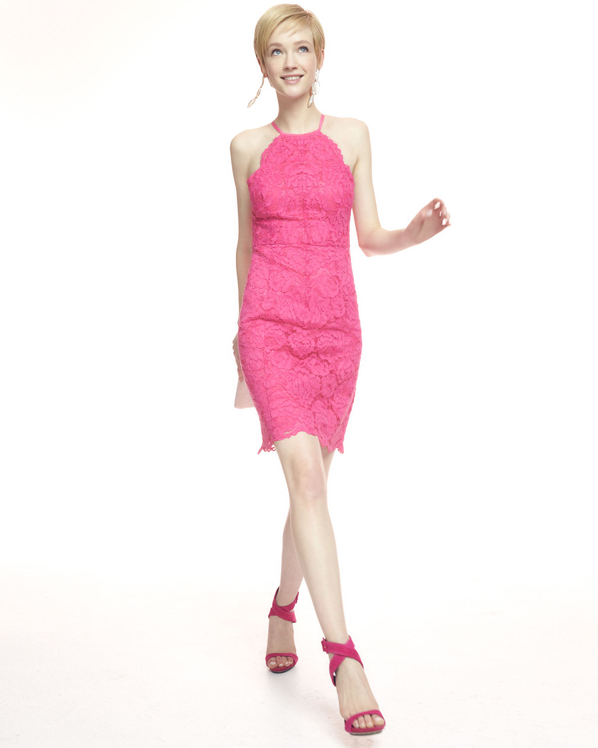 Lyst - Trina Turk Parry Lace Sleeveless Dress in Pink