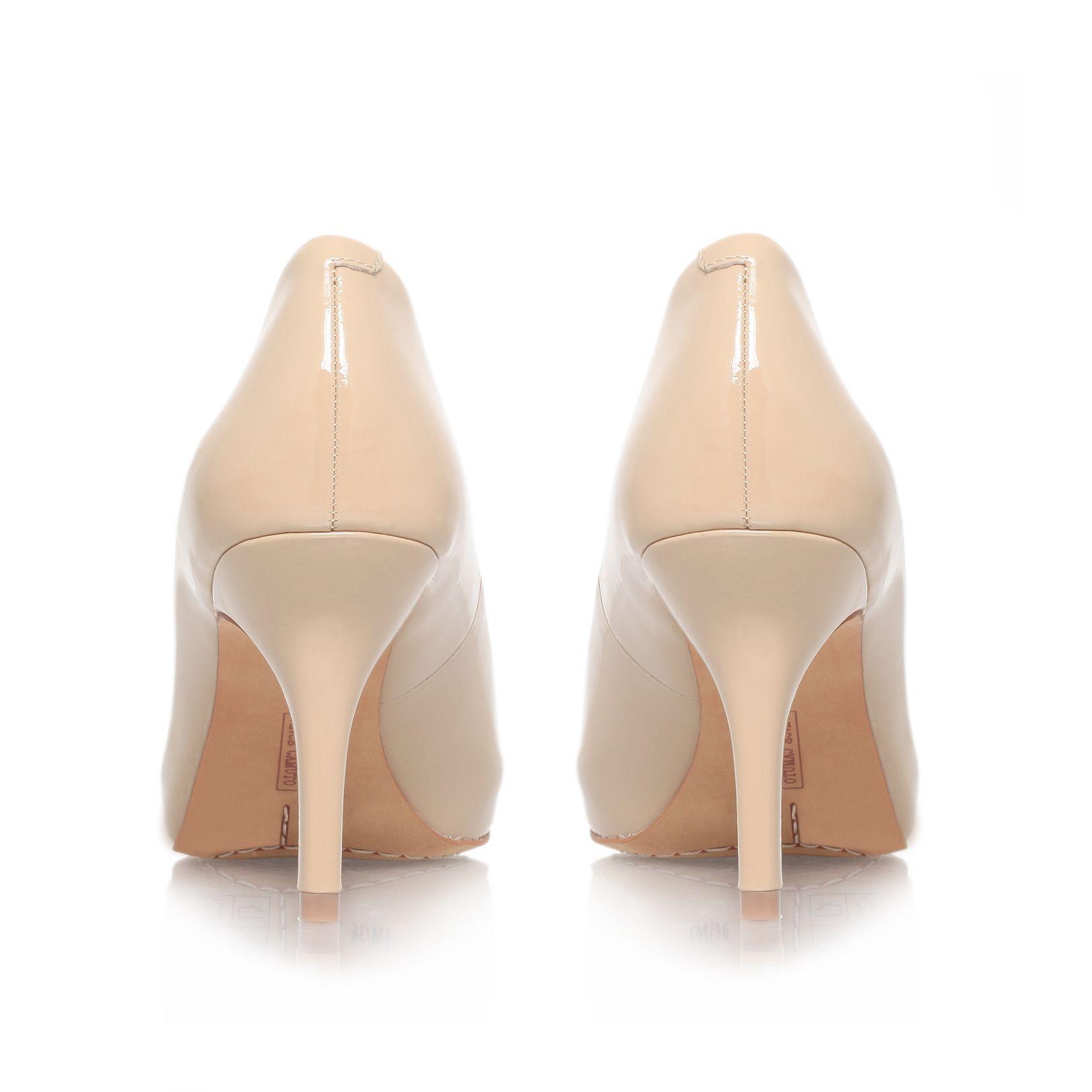 Nude Peep Toe Mid Heels