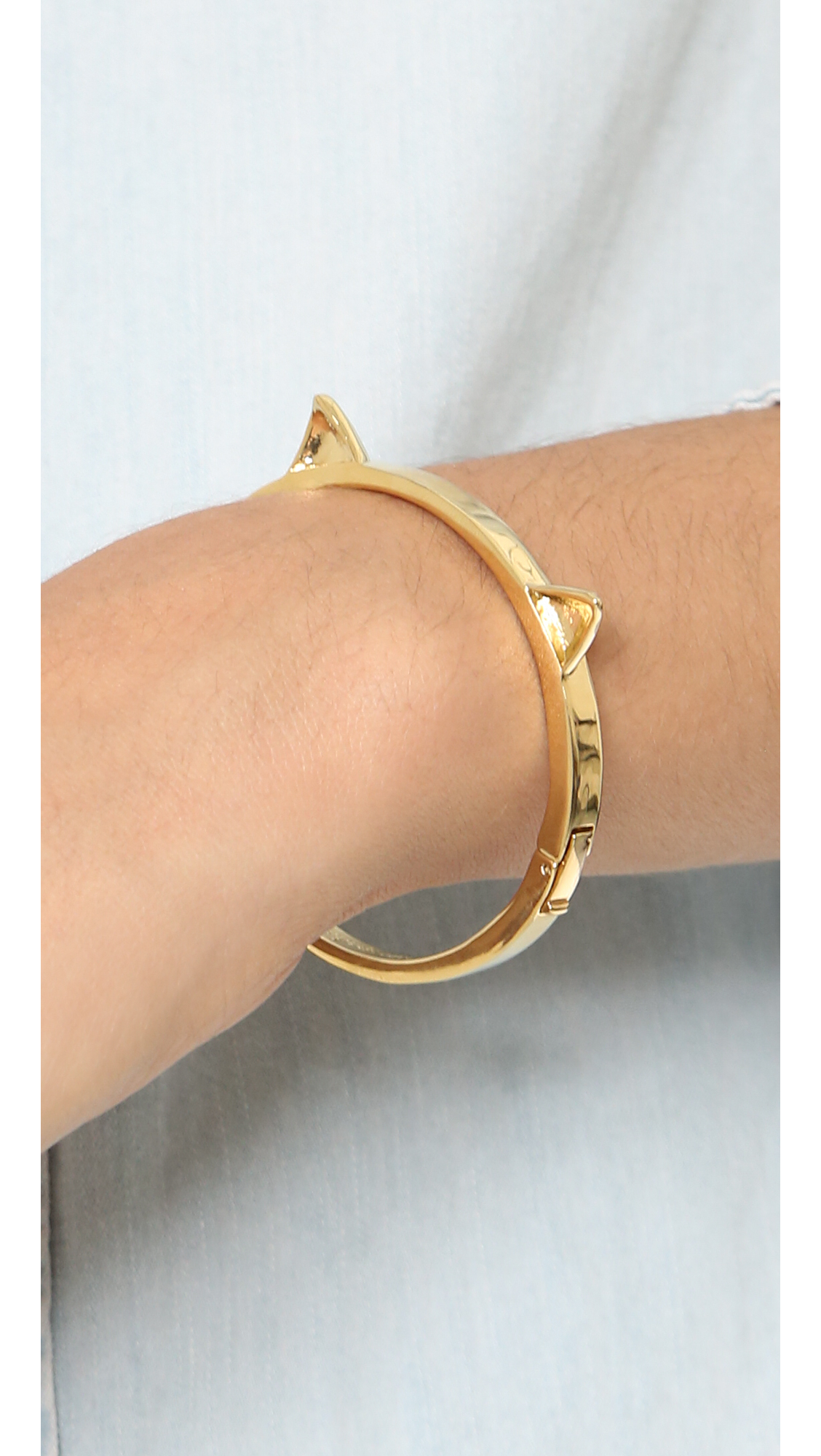 Lyst Kate Spade New York Out Of The Bag Bangle Bracelet Gold In