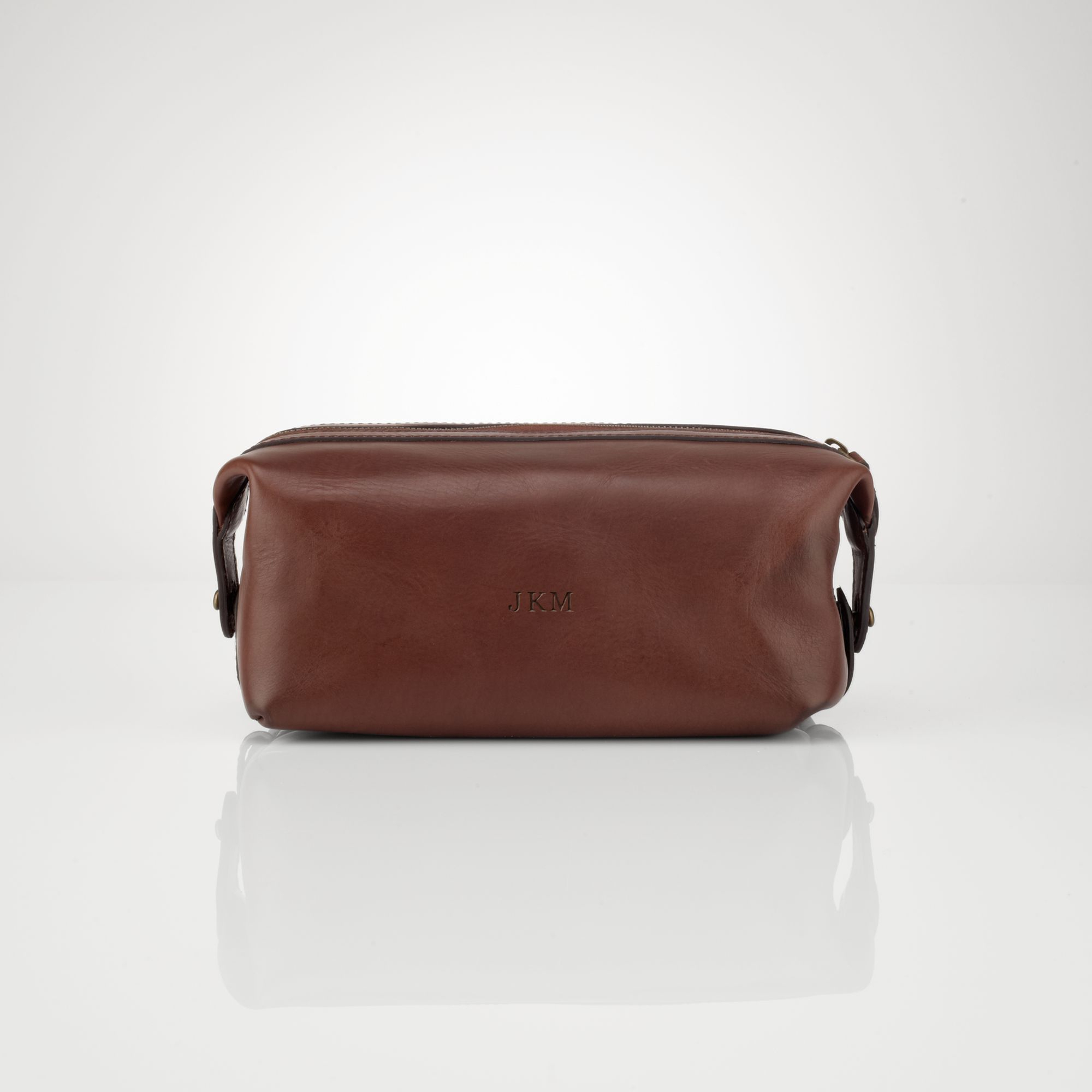65d6f5cee2ed Polo Ralph Lauren Leather Travel Bag in Brown for Men - Lyst
