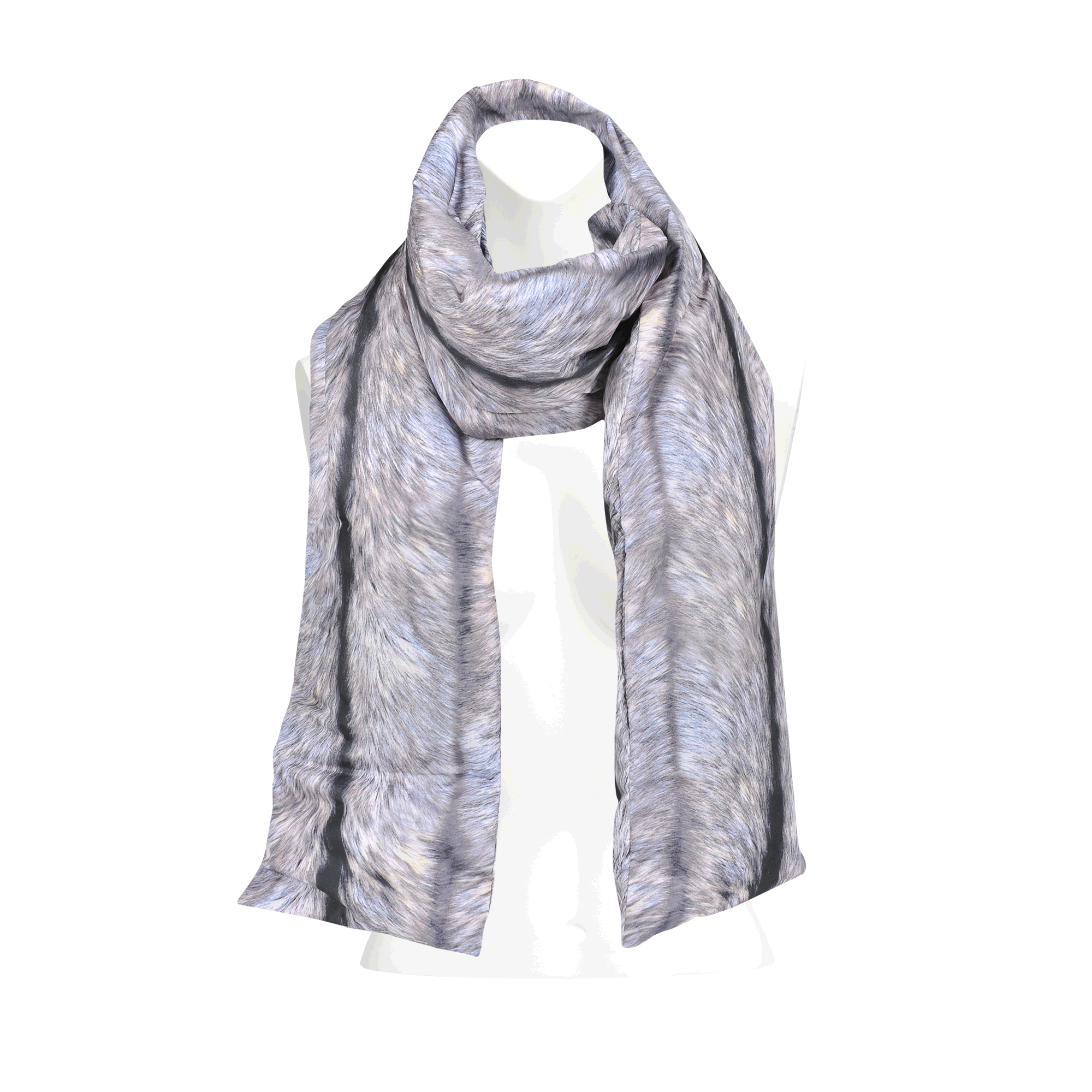 Mm6 by maison martin margiela optic illusion scarf in gray for Mm6 maison margiela