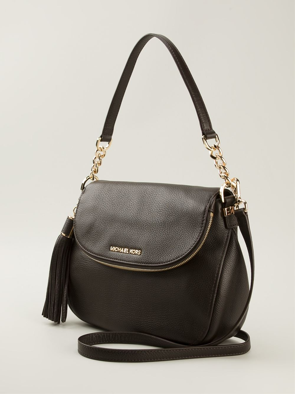 Lyst - Michael Kors Medium Bedford Shoulder Bag in Brown