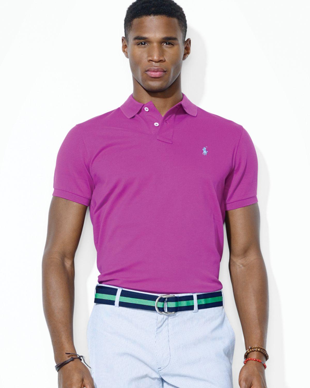 84cf44a4 ... ebay lyst ralph lauren polo custom stretch mesh polo shirt slim fit  2ce4f f6517