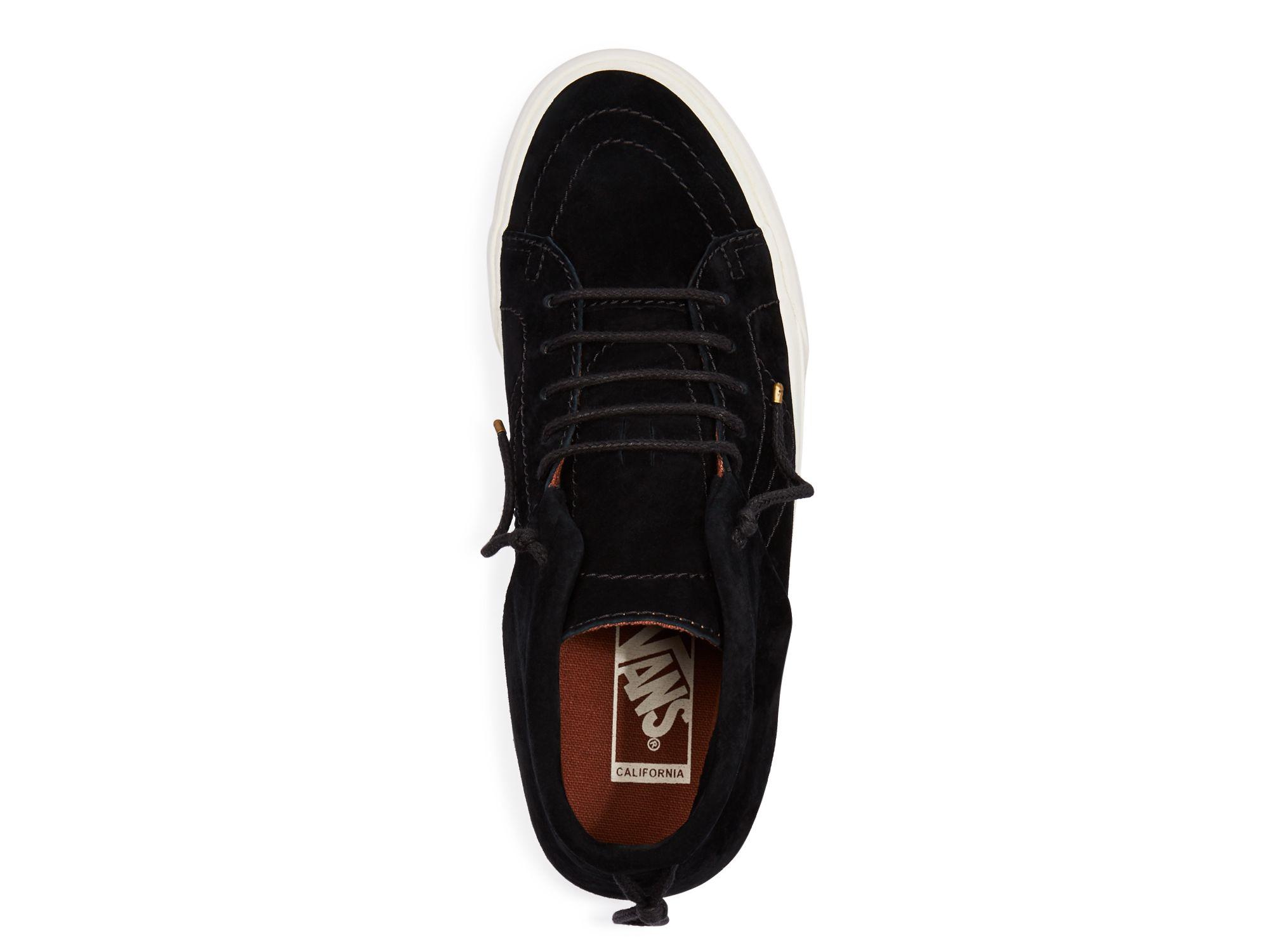 783727d4b2421a Lyst - Vans Sk8-mid Moc Ca Sneakers in Black for Men