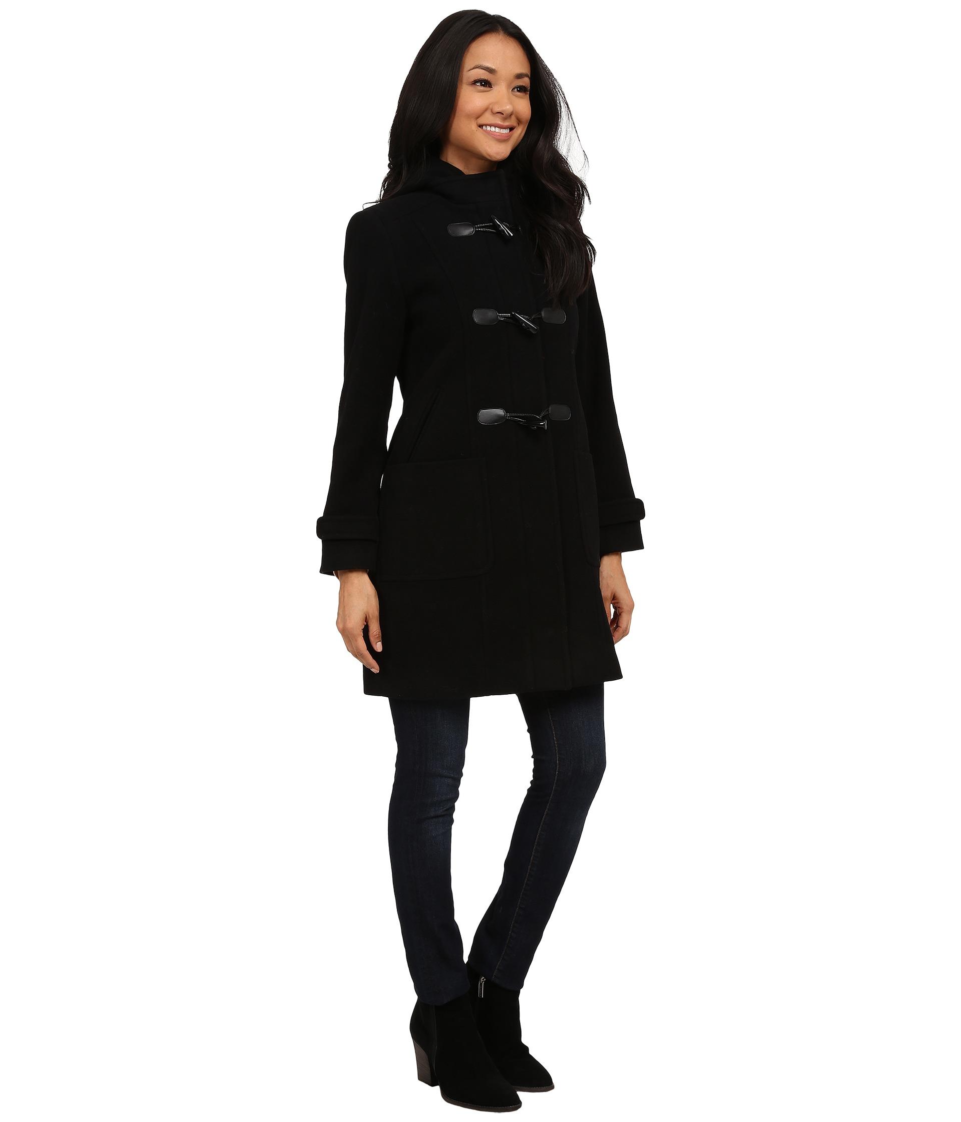 Pendleton Petite Toggle Coat in Black | Lyst