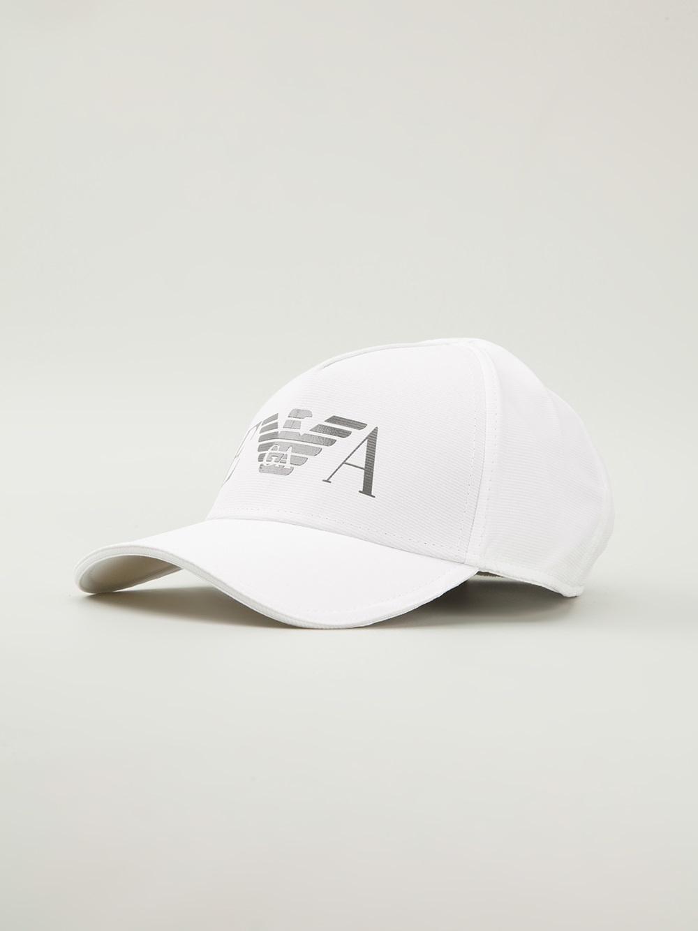 Lyst - Emporio Armani Logo Cap in White for Men a8e4f5c5dfd