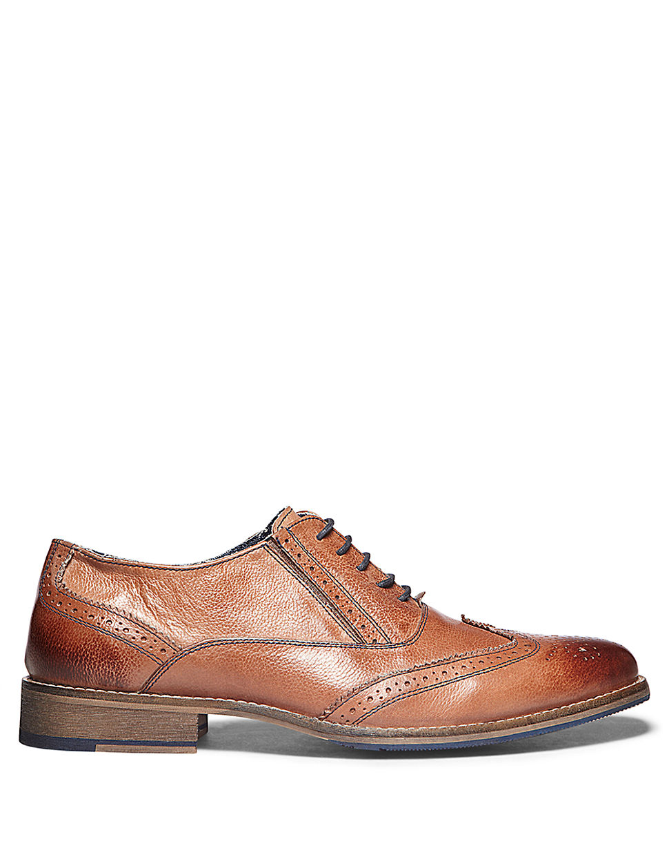 4aec4647a45 Steve Madden - Brown Virgo Leather Wingtip Oxfords for Men - Lyst