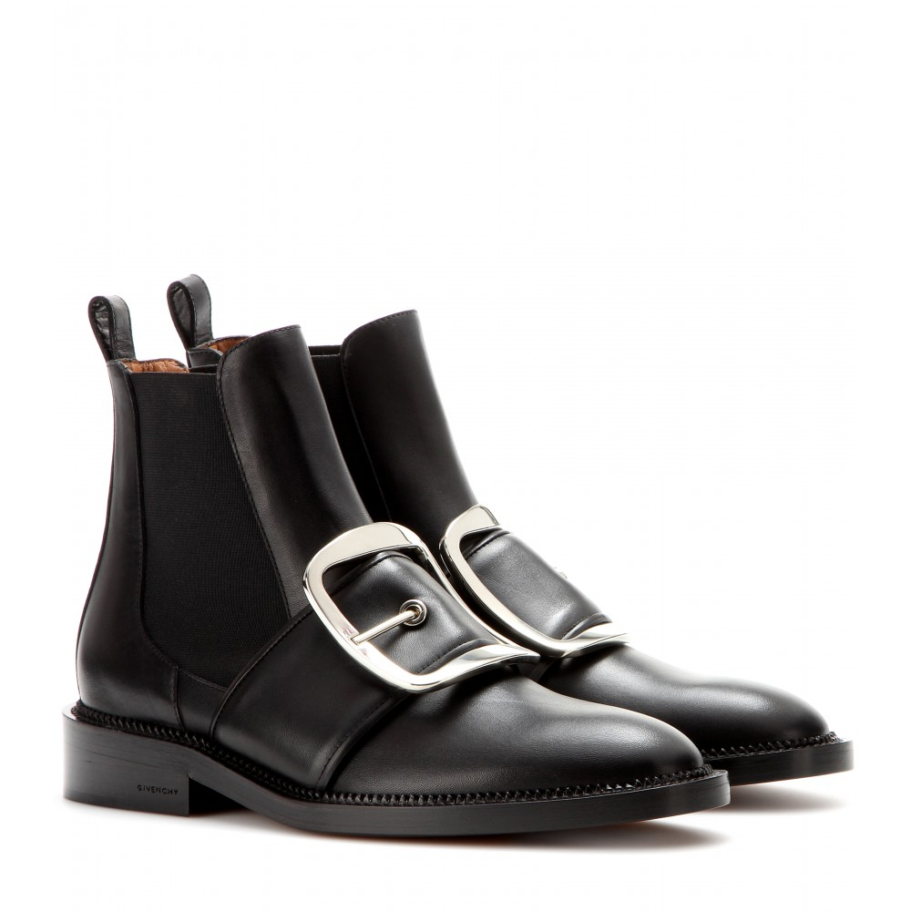 Givenchy Black Leather Chelsea Boots