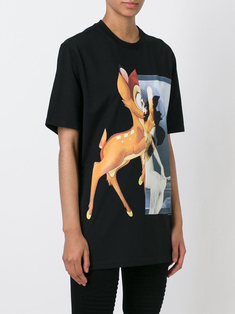 Lyst Givenchy Bambi Print T Shirt In Black